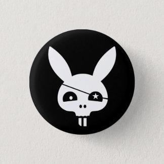 Evil Bunny Pirate Skull 1 Inch Round Button