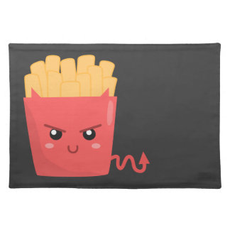 Evil but Kawaii French Fries Placemat