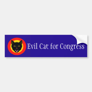 Evil Cat for Congress Bumper Sticker
