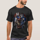 Evil Clown and Cigar Circle Closeup T-Shirt