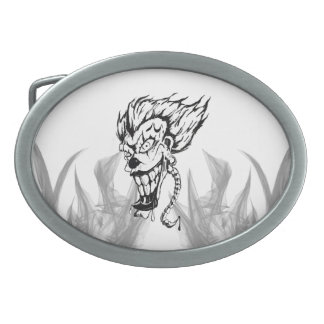 Evil clown belt buckle