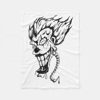 Evil clown custom fleece blanket