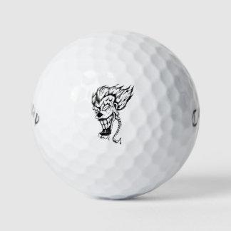 Evil clown custom golf balls