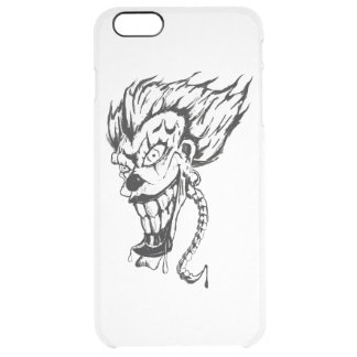 Evil clown Custom iPhone Clearly™ Deflector Case