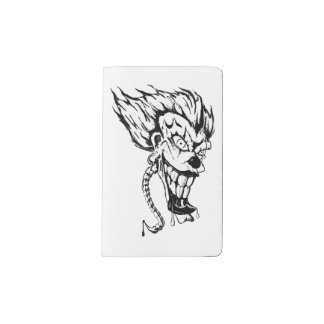 Evil clown Custom Notebook