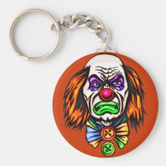 Evil Clown Face Basic Round Button Keychain