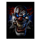 Evil Clown Face Postcard