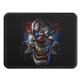 Evil Clown Face Trailer Hitch Cover