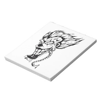 Evil clown forty page note pad