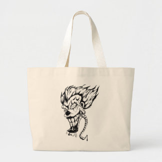 Evil clown Jumbo tote bag