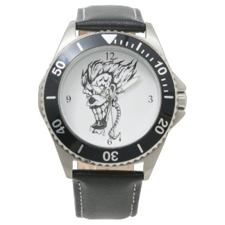 Evil clown Men's watch (customizable)