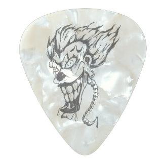 Evil clown pear celluloid guitar pic pearl celluloid guitar pick