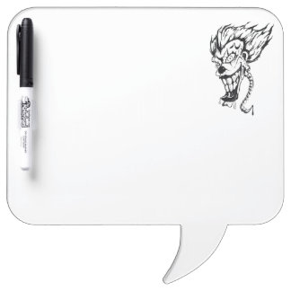 Evil clown Pen Dry Erase Board