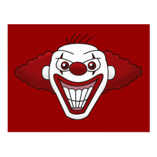 Evil Clown Postcard