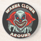 Evil Clown Sandstone Coaster