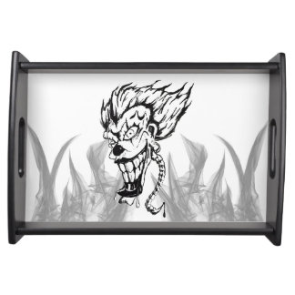 Evil clown serving Tray