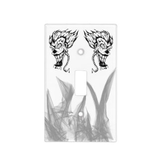 Evil clown Single Toggle light switch cover