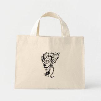 Evil clown tiny tote bag