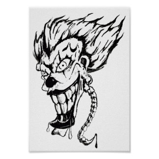 Evil clown Value Poster Paper (Matte)
