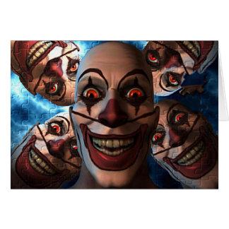 Evil Clowns with Bulging Eyes Card