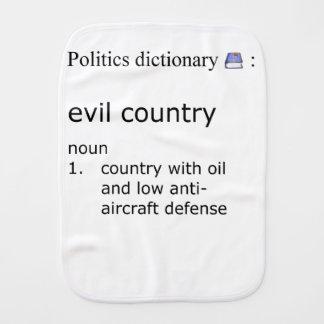 Evil country burp cloth