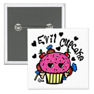 evil cupcake 2 inch square button