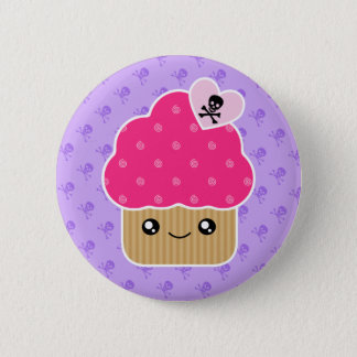 Evil Cute Cupcake Of Death Kawaii Button Badge