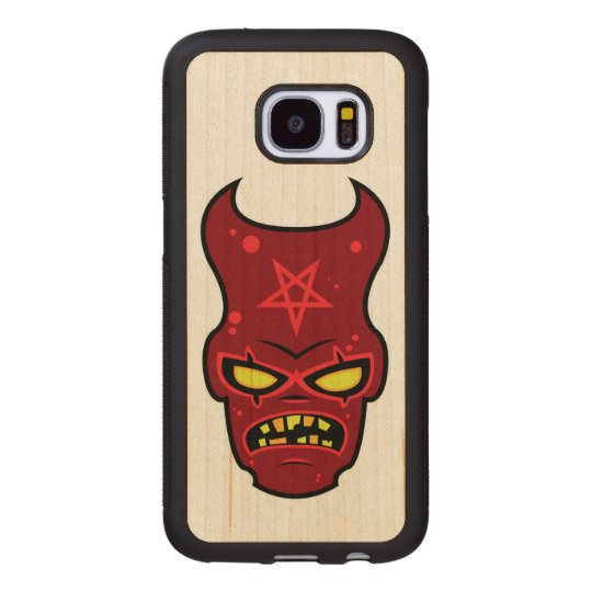 Evil Demon Illustration Wood Samsung Galaxy S7 Case
