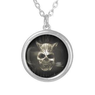 Evil Demonised Skull Personalized Necklace