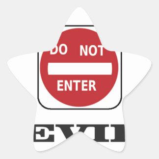 evil dne bad star sticker