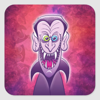 Evil Dracula Square Sticker