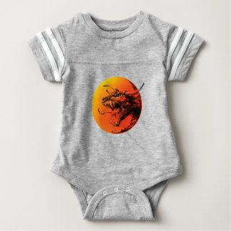 Evil dragon baby bodysuit