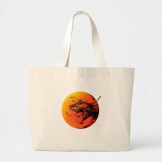 Evil dragon large tote bag
