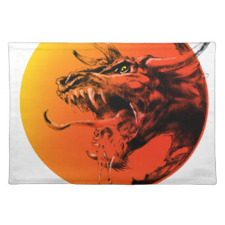 Evil dragon placemat