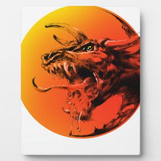 Evil dragon plaque