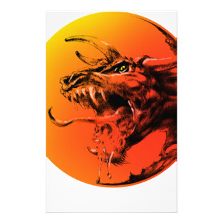 Evil dragon stationery
