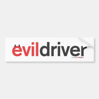 evil driver bumper sticker