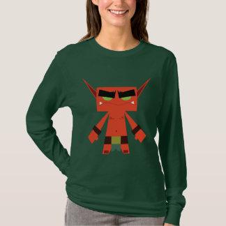 evil elf red long sleeve t-shirt