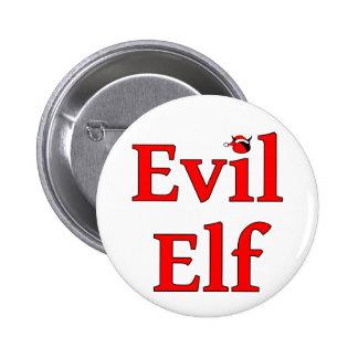 Evil Elf Round Holiday 2 Inch Round Button