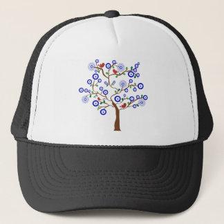 Evil Eye Bird Tree Trucker Hat