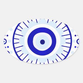 Evil Eye Burst Oval Sticker