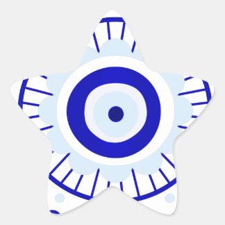 Evil Eye Burst Star Sticker