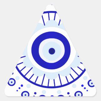 Evil Eye Burst Triangle Sticker