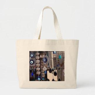 Evil Eye Charms Large Tote Bag