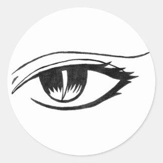 evil eye classic round sticker