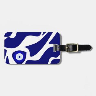Evil Eye Lava Pattern Luggage Tag