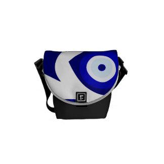 Evil Eye Lava Pattern Messenger Bag