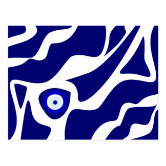 Evil Eye Lava Pattern Postcard