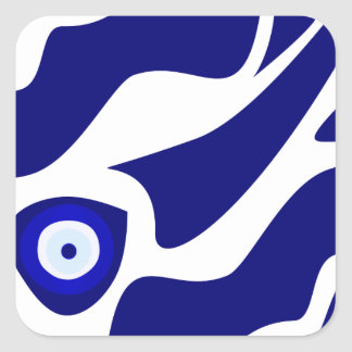 Evil Eye Lava Pattern Square Sticker