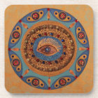 Evil Eye Mandala: Good Luck Symbol Coaster